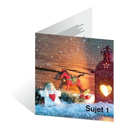 Bild von Weihnachtskarten quadratisch 150 x 150 mm (Doppelkarte)