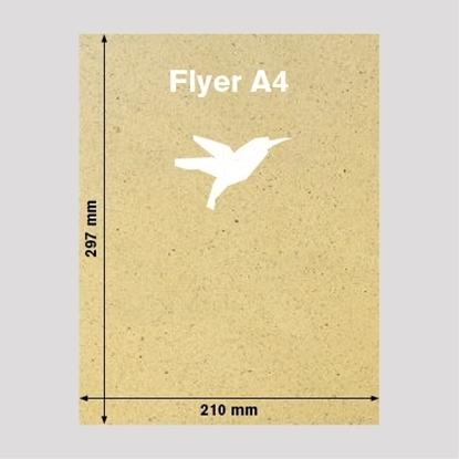 Bild von Flyer DIN-A4 Graspapier