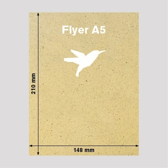Bild von Flyer DIN-A5 Graspapier